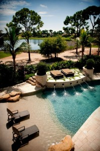 cost of a beach entry pool can be expesnive because of the custom work involved in making sure that the beach entry is functioning well.