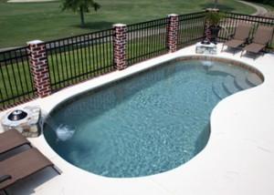 kidney fiberglass pool