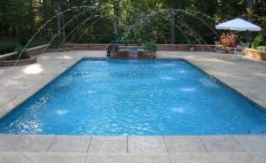 rectangle fiberglass pool