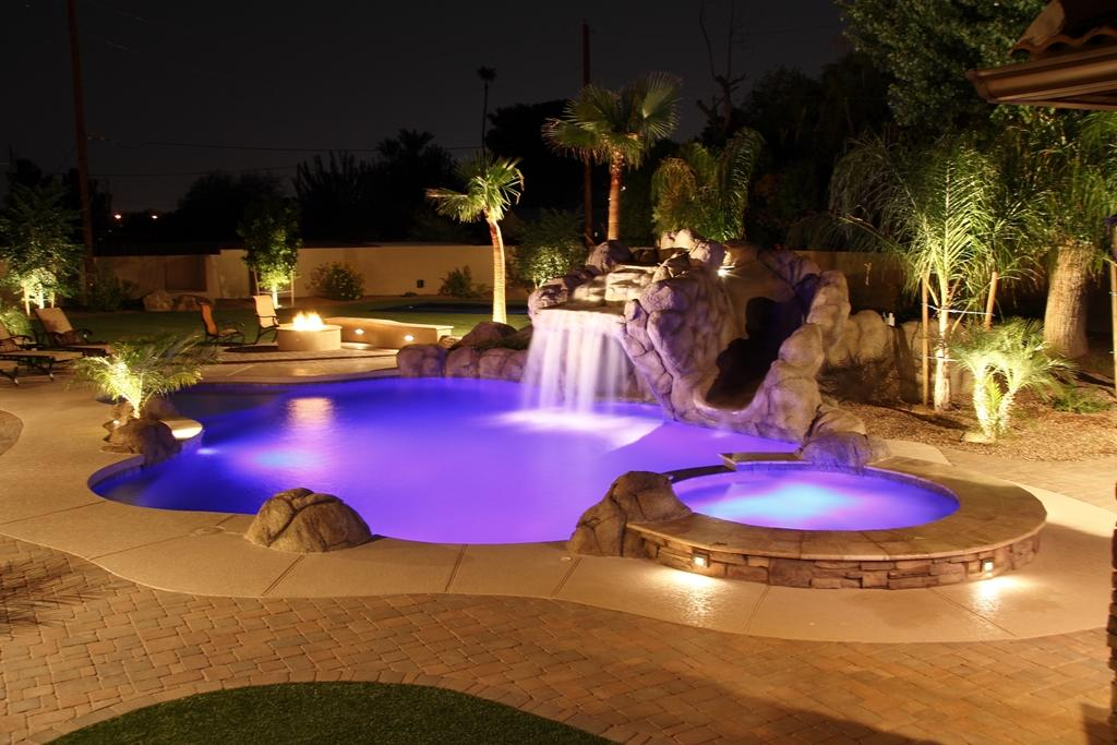 Swimming pool lights swimming pool quotes mozeypictures Choice Image